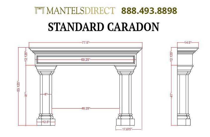 Caradon Classic Series Stone Fireplace Mantel