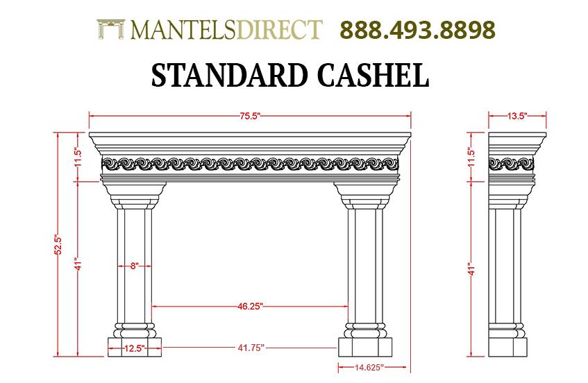 Cashel Classic Series Stone Fireplace Mantel
