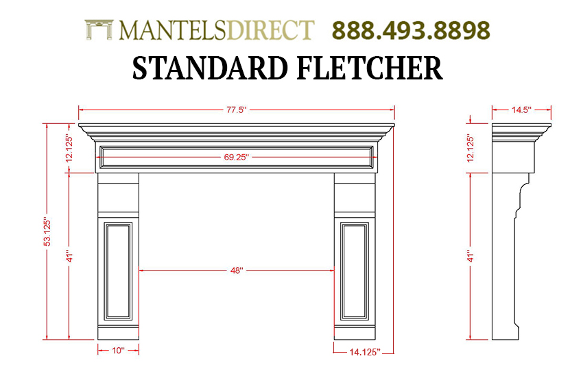 Fletcher Classic Series Stone Fireplace Mantel