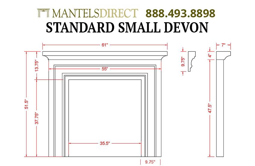 Devon Classic Series Stone Fireplace Mantel
