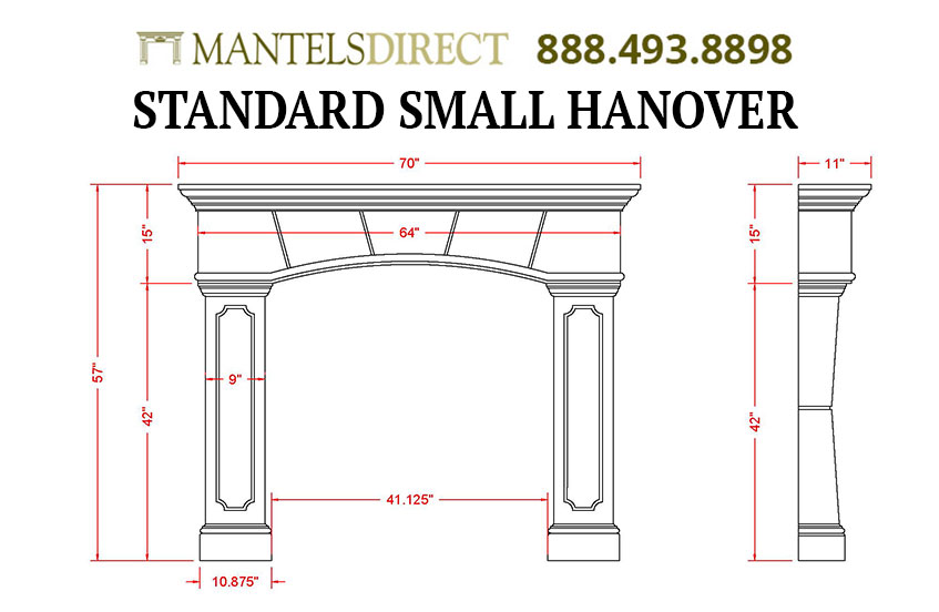 Hanover Classic Series Stone Fireplace Mantel