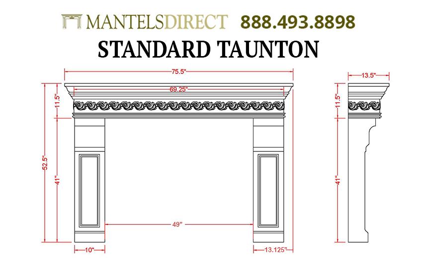 Taunton Classic Series Stone Fireplace Mantel