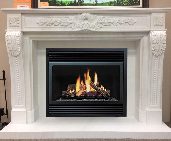 huge selection of 37179 6eb42 Canterbury Marble Fireplace Mantel
