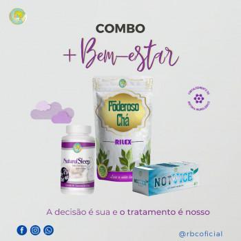 KIT ANTI TABAGISMO/ALCOOLISMO - Not Vice + Natural Sleep + Poderoso Chá Rilex