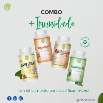 KIT IMUNIDADE - VIT C + Resfrimuni + VIT D + Cúrcuma