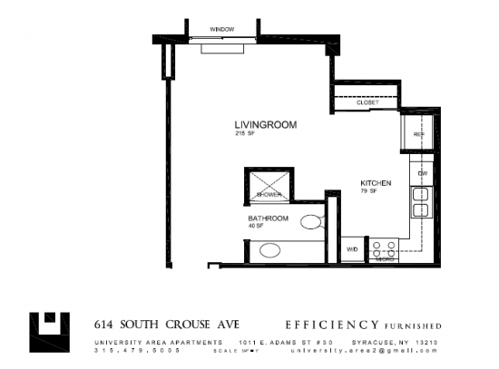 Bedroom Apartment Building at  - 614 S Crouse Ave, Syracuse, NY  13210, United States image 3