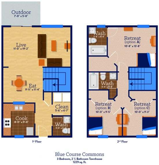 Bedroom Apartment Building at  - 446 Blue Course Dr, State College, PA  16803, United States image 19