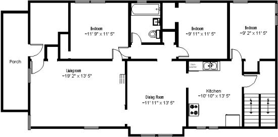 Bedroom Apartment Building at  - 871 Ackerman Avenue Syracuse, NY 13210 USA image 2