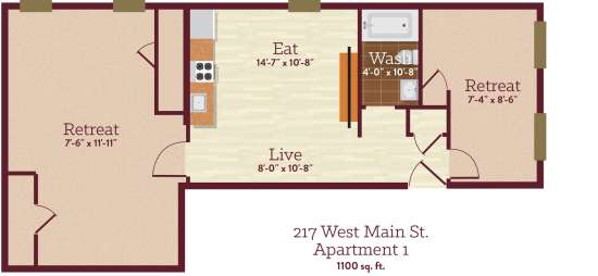 Bedroom Apartment Building at  - 217 W Main St, Kutztown, PA  19530, United States image 3