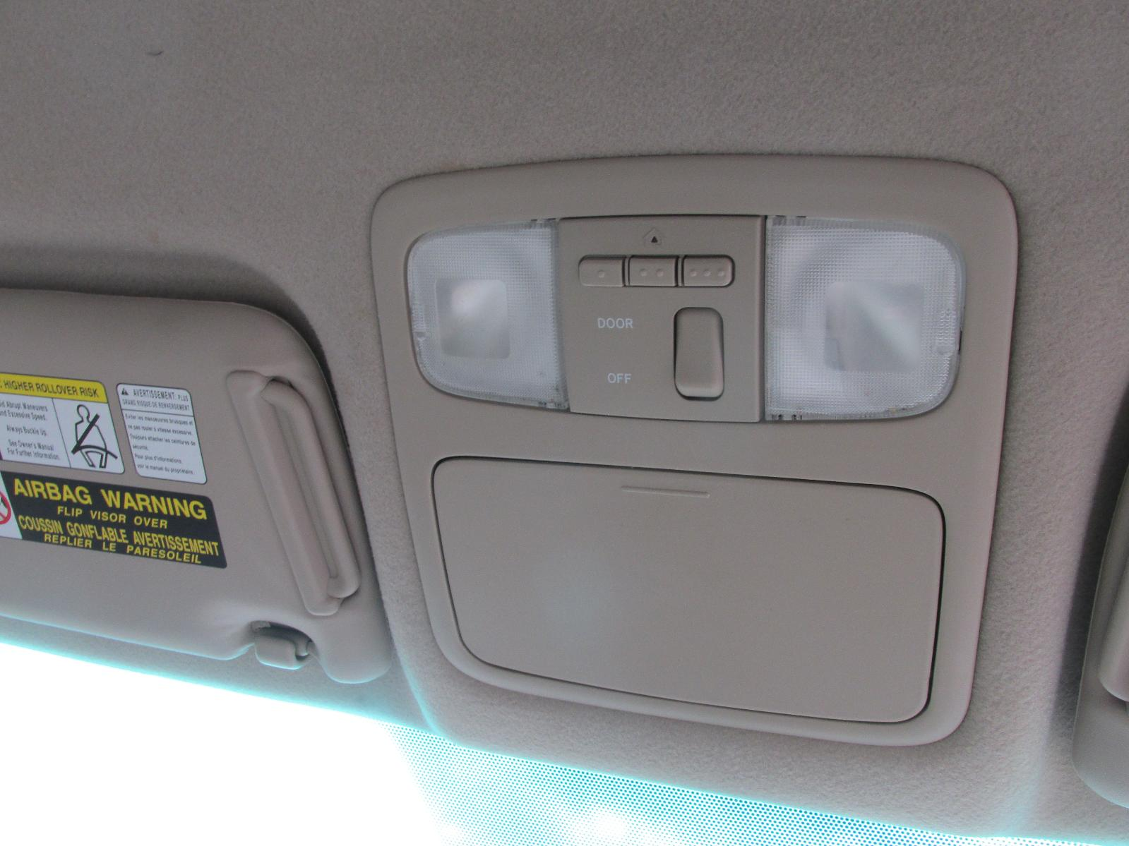 Toyota Highlander Roof Console W Garage Door Opener 04 05