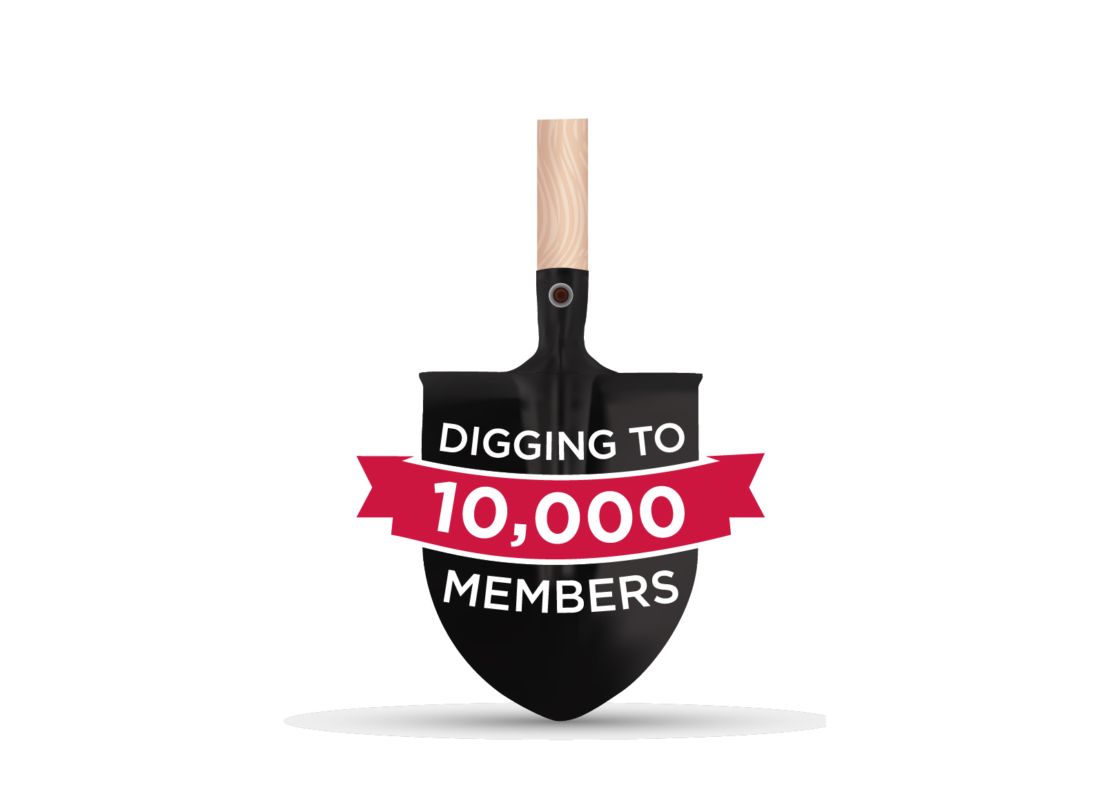 Digging to 10k Logo