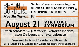 Ad: Beyond Borders Virtual Symposium August 21 Hostile Terrain 94