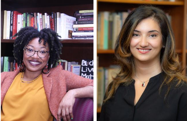 A photo of Ashante´ M. Reese (left) and Narges Bajoghli (right), recipients of 2020 Margaret Mead Award