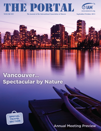 Vancouver skyline on the cover of the Sept/Oct 201