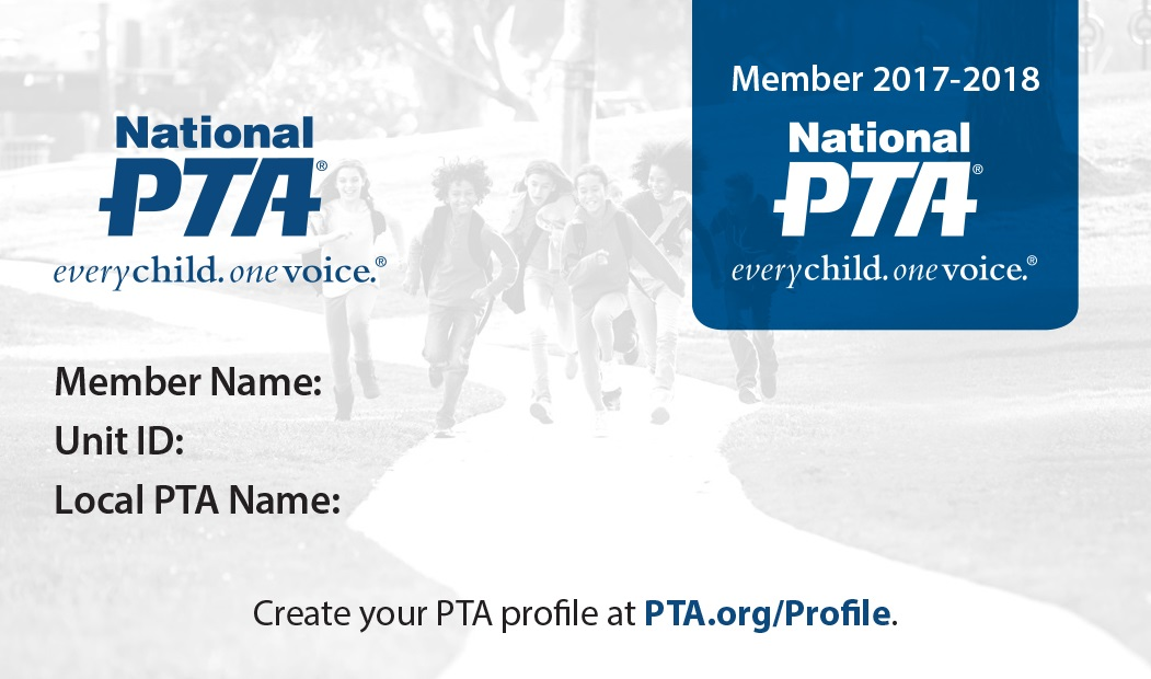Your Pta Membership Card - For Members - National Pta