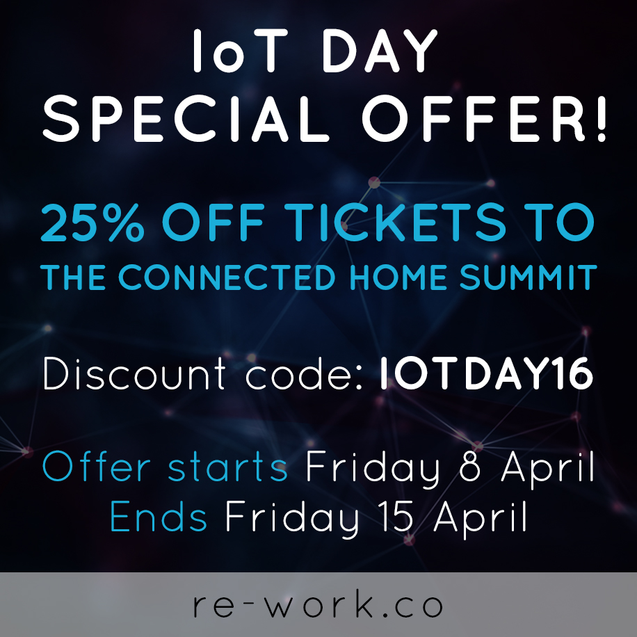 Internet of Things Day 2016 Special Offer!