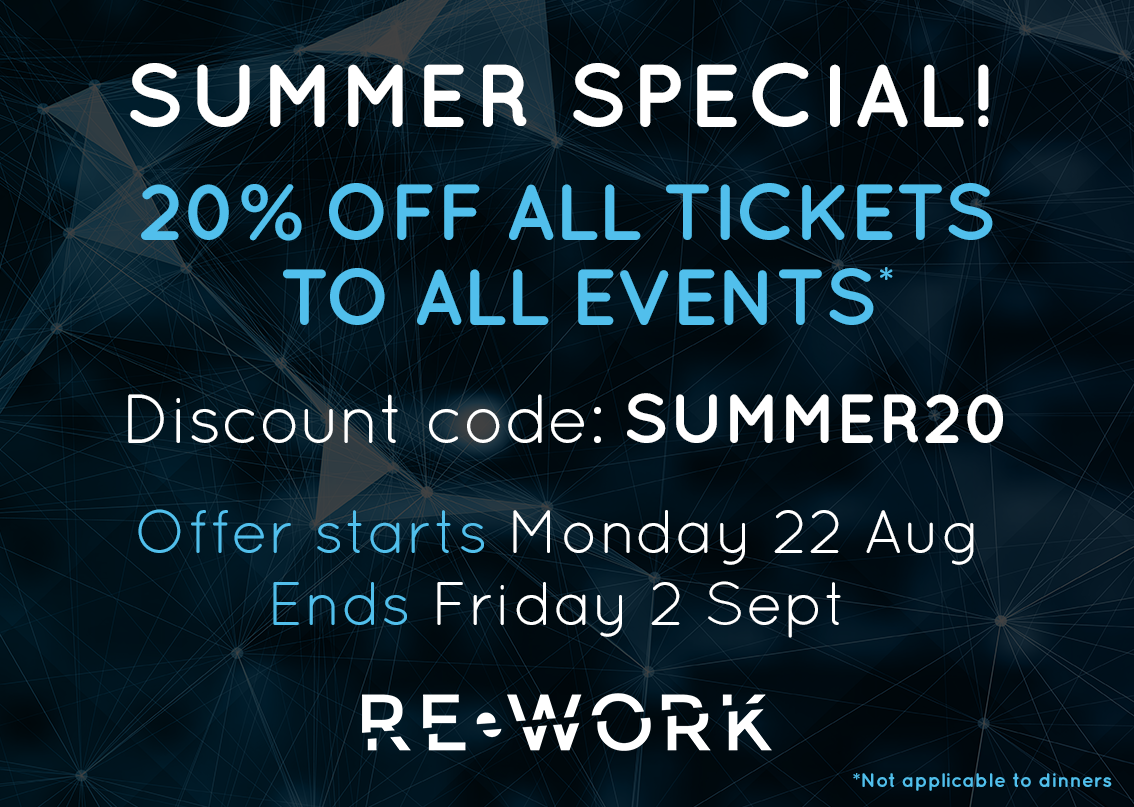 Summer Special: 20% off All Tickets to All Summits!