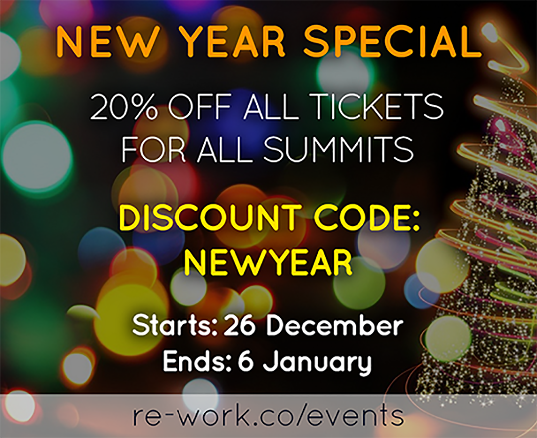 New Year Discount on All RE•WORK Summits