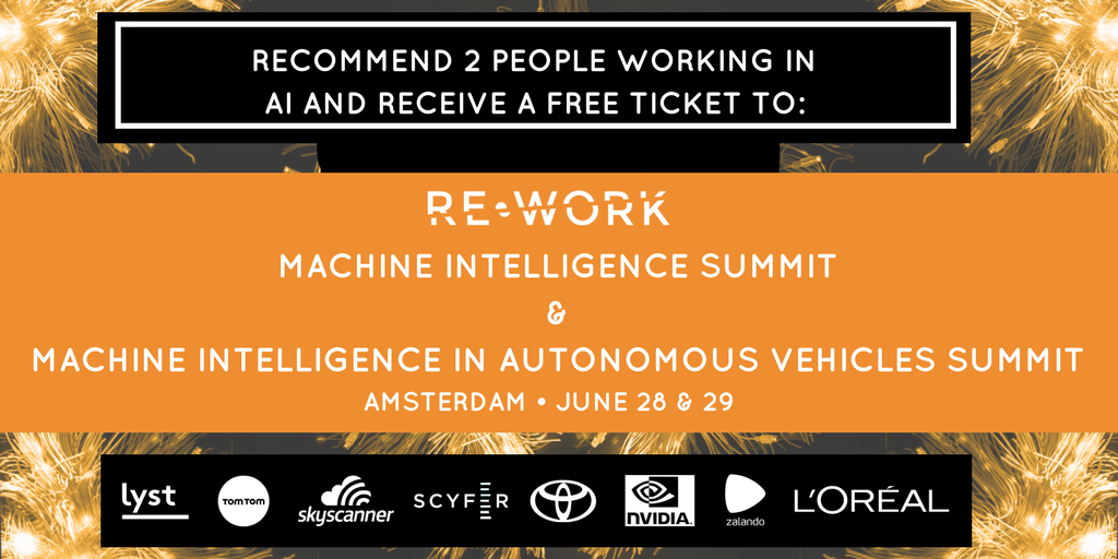 Meet Machine Intelligence & Autonomous Vehicles Experts in Amsterdam: Ticket Giveaway