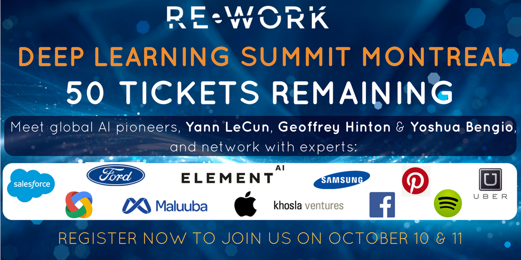 Last chance to join AI pioneers at the Deep Learning Summit, Montreal