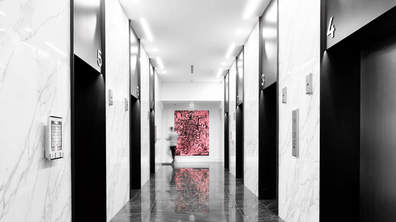 Brand-new lobby