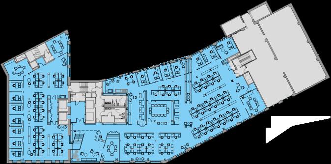 Floor 3 Single Tenant Test Fit