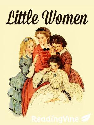 Little women reading set