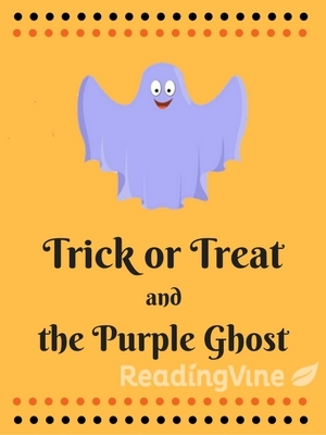 Trick or treat purple ghost