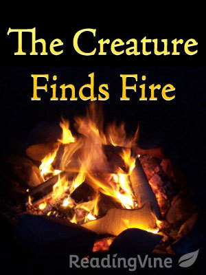 The creature finds fire