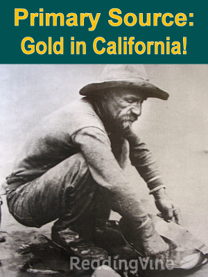 Primary source gold in california