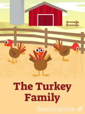 The turkey family illustration