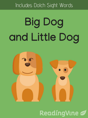 Big dog and little dog illustration