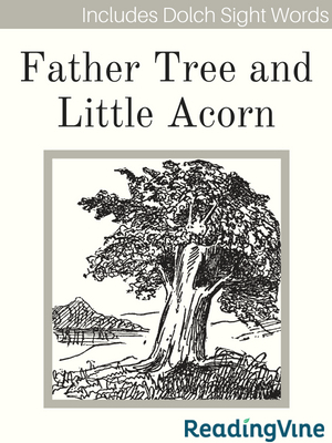 Father tree and little acorn illustration