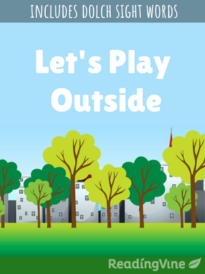 Let s play outside illustration