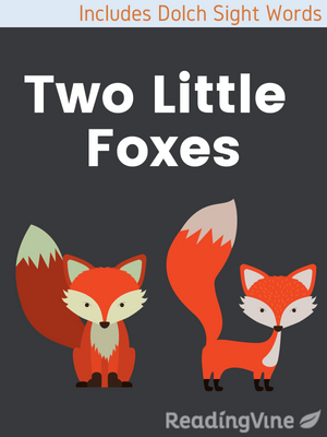 Two little foxes illustration