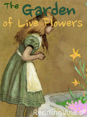 The garden of live flowers