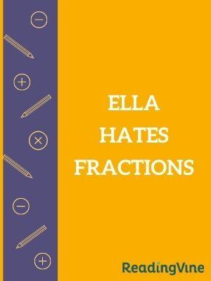 Ella hates fractions illustration