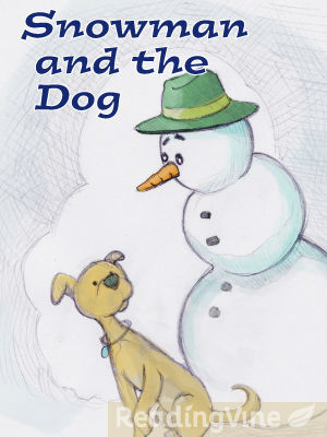 Snowman and the dog