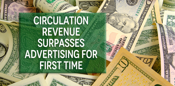 Circulation Revenue Surpasses Advertising for First Time