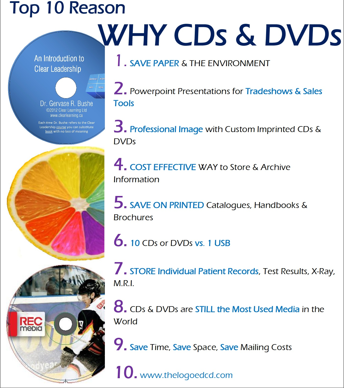 Top 10 reasons why CDs and DVDs are good
