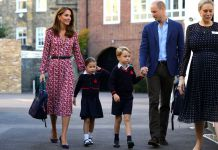 Kate Middelton, Princess Charlotte and her brother, Prince George and Prince William