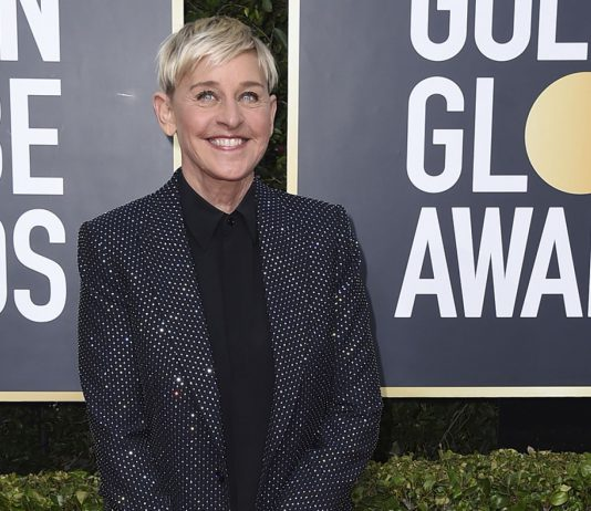Ellen DeGeneres arrives at the 77th annual Golden Globe Awards at the Beverly Hilton Hotel on Sunday, Jan. 5, 2020, in Beverly Hills, Calif.
