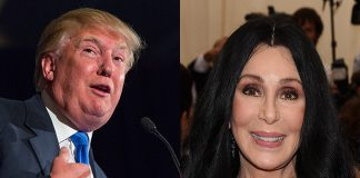 Donald Trump and Cher