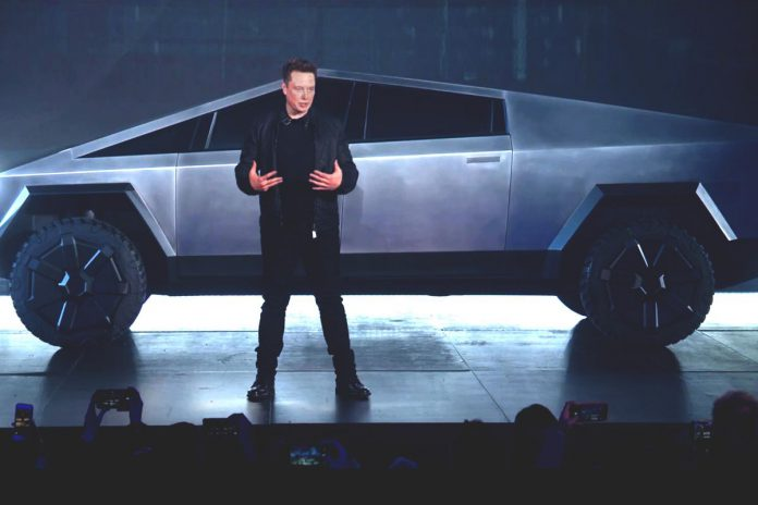 Elon Musk and his creation: Cybertruck