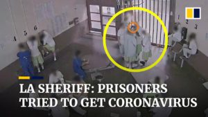 California prison inmates trying to get infected with Covid-19