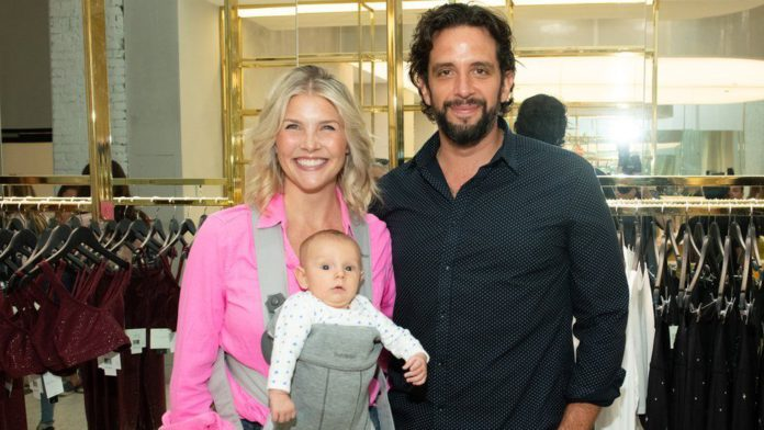 Nick Cordero and his wife and child