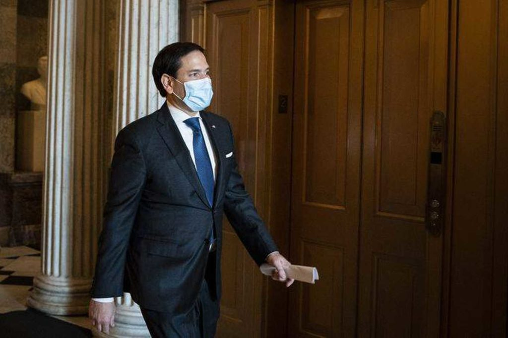 Marco Rubio tells people to wear a face mask at all times