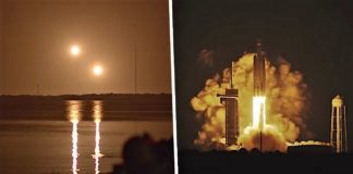 Incredible images of SpaceX Falcon Rockets landing during SpaceX's STP-2 Mission wouldn't look out of place in a movie about aliens landing on Earth.