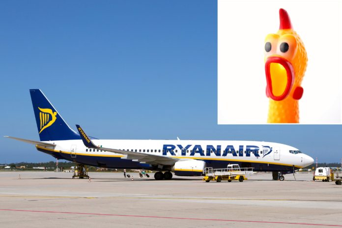 Ryanair probes pilots after video shows them operating throttle with rubber chicken