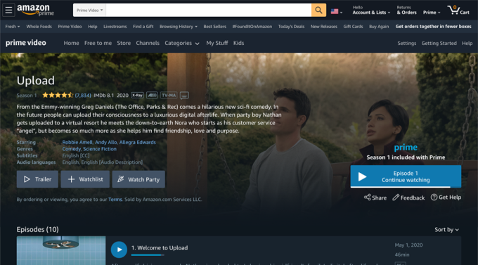 Amazon Prime Video's latest feature: Watch Party